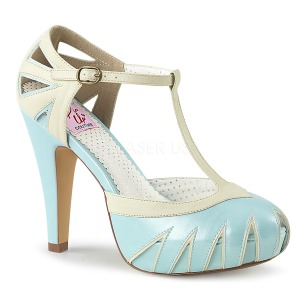 Azul 11,5 cm BETTIE-25 Pinup sapatos scarpin de plataforma oculta