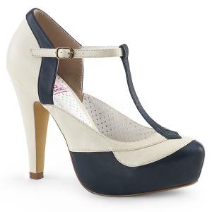 Azul 11,5 cm BETTIE-29 Pinup sapatos scarpin de plataforma oculta