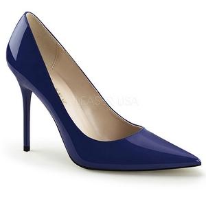 Azul Verniz 10 cm CLASSIQUE-20 Sapatos Scarpin Salto Agulha