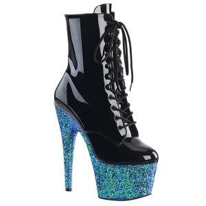 Azul brilho 18 cm Pleaser ADORE-1020LG botinha de saltos pole dance
