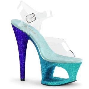 Azul brilho 18 cm Pleaser MOON-708OMBRE sapatos de saltos pole dance