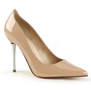 Bege 10 cm APPEAL-20 sapatos scarpin salto agulha metal