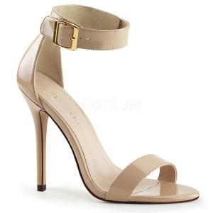 Bege 13 cm AMUSE-10 sapatos de travesti