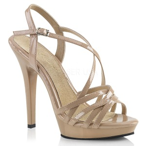 Bege 13 cm Fabulicious LIP-113 sandálias de salto alto mulher