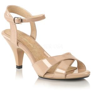 Bege 8 cm BELLE-315 sapatos de travesti