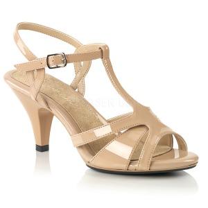 Bege 8 cm BELLE-322 sapatos de travesti