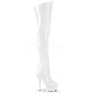 Branco 15 cm KISS-3010 bota acima do joelho
