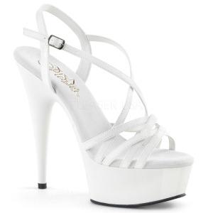 Branco 15 cm Pleaser DELIGHT-613 Sandálias de salto alto