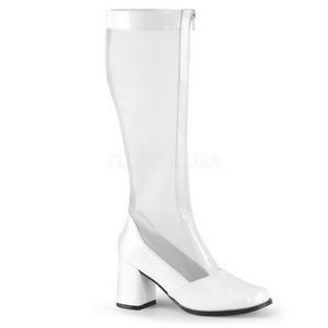 Branco 8,5 cm GOGO-307 botas grade femininos com salto alto