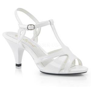 Branco 8 cm Fabulicious BELLE-322 sandálias de salto alto mulher