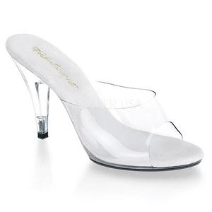 Branco Transparente 11 cm CARESS-401 Chinelos Saltos Altos