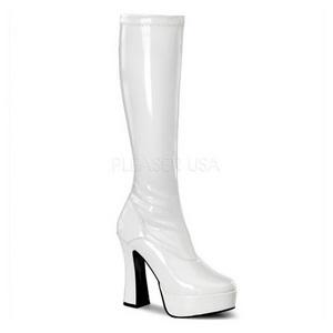 Branco Verniz 13 cm ELECTRA-2000Z Plataforma Botas Femininas