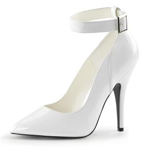 Branco Verniz 13 cm SEDUCE-431 Scarpin Saltos Altos para Homens