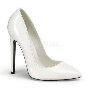 Branco Verniz 13 cm SEXY-20 Sapatos Scarpin Femininos