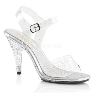 Brilho 10 cm Fabulicious CARESS-408MMG sandálias de salto alto mulher