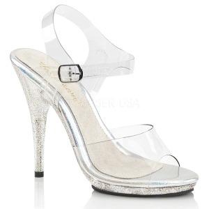 Brilho 12,5 cm Fabulicious POISE-508MG sandálias de salto alto mulher