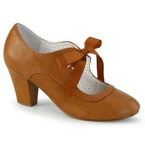Caramel 6,5 cm WIGGLE-32 retro vintage sapatos maryjane com salto grosso