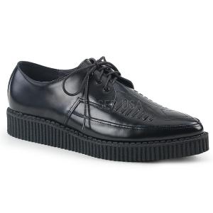 Couro 3 cm CREEPER-712 Creepers Sapatos Homem Plataforma