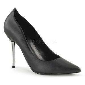 Imitação de couro 10 cm APPEAL-20 sapatos scarpin salto agulha metal