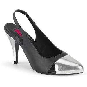 Imitação de couro 10 cm DREAM-405 slingback sapatos de travesti