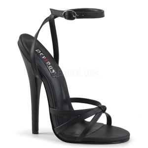 Imitação de couro 15 cm Devious DOMINA-108 sandálias de salto alto mulher
