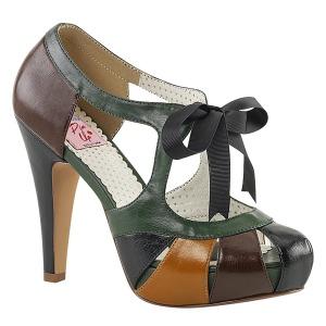 Multicolorido 11,5 cm retro vintage BETTIE-19 calçados femininos com salto alto
