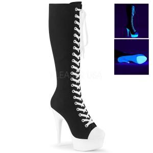 Neon 15 cm DELIGHT-2000SK botas de tênis com salto alto de linho