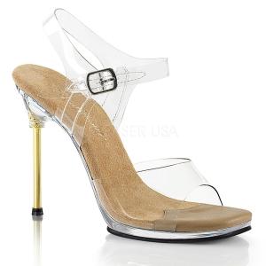 Ouro 11,5 cm CHIC-08 Sandálias Salto Agulha