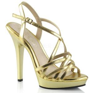Ouro 13 cm Fabulicious LIP-113 sandálias de salto alto mulher