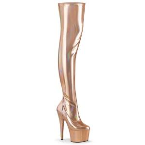 Ouro 18 cm ADORE-3000HWR Holograma botas overknee de saltos pole dance