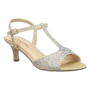 Ouro Cristal 6,5 cm AUDREY-05 sandálias para noite de gala