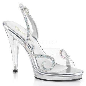 Pedra strass 11,5 cm FLAIR-457 sandálias de salto alto mulher