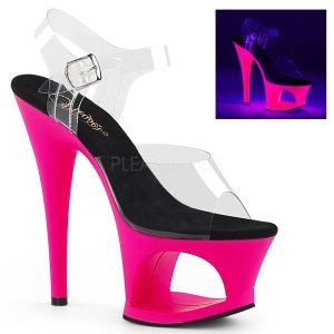 Pink 18 cm MOON-708UV Sandálias Plataforma Neon
