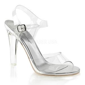 Prata 11,5 cm CLEARLY-408 Sandálias para noite de festa