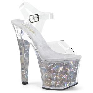 Prata 18 cm RADIANT-708HHG Holograma plataforma salto alto mulher