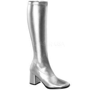 Prata Fosco 7,5 cm Funtasma GOGO-300 Botas Femininas