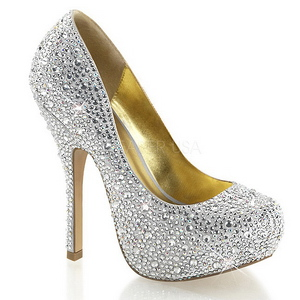 Prata Pedras Brilhando 13,5 cm FELICITY-20 calçados femininos salto alto