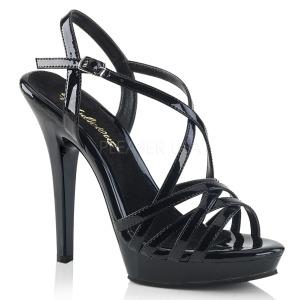 Preto 13 cm Fabulicious LIP-113 sandálias de salto alto mulher