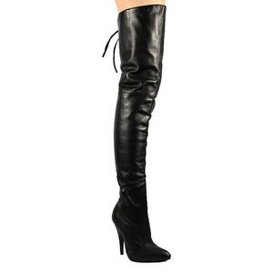Preto Couro 13 cm LEGEND-8899 bota acima do joelho