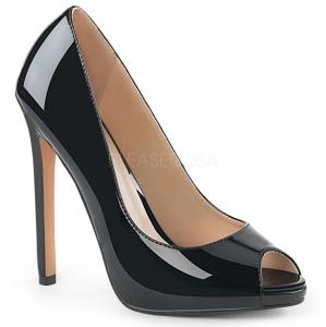 Preto Envernizado 13 cm SEXY-42 classico calçados scarpini