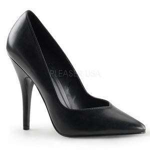 Preto Fosco 13 cm SEDUCE-420V Sapatos Scarpin Femininos