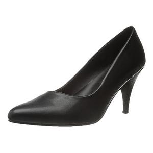 Preto Fosco 7,5 cm PUMP-420 classico calçados scarpini