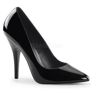 Preto Verniz 13 cm SEDUCE-420 scarpin de bico fino salto alto