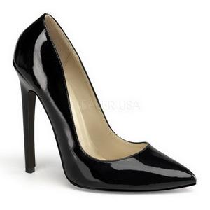 Preto Verniz 13 cm SEXY-20 Sapatos Scarpin Femininos