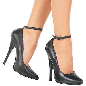 Preto Verniz 15,5 cm DOMINA-431 Sapatos Scarpin Femininos