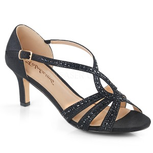 Preto brilho 6,5 cm Fabulicious MISSY-03 sandálias de salto alto mulher