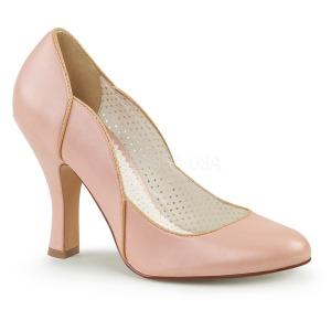 Rosa 10 cm SMITTEN-04 Pinup sapatos scarpin com saltos baixos