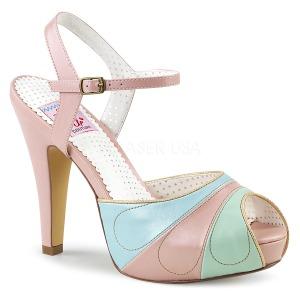 Rosa 11,5 cm BETTIE-27 Pinup sandálias de plataforma oculta