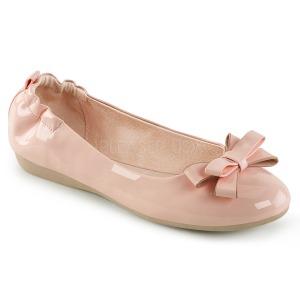 Rosa OLIVE-03 sapatos de bailarinas com gravata borboleta