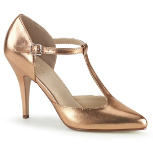 Rosa Ouro 10 cm VANITY-415 scarpin de bico fino salto alto